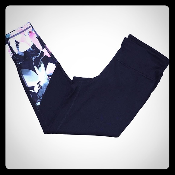 a71247e7762a2 Ideology Pants | Floralprint Ankle Leggings Size Medium | Poshmark